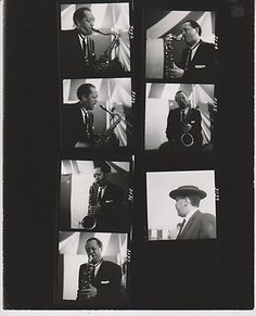 Lester Young Photo Proof Sheet Burt Goldblatt Collection 2559 | eBay