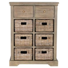 Wood cabinet with storage.