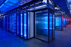 Inside a Facebook server farm. 60,000 seperate, independently powered, high speed servers.