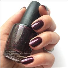 OPI Rich & Brazilian with Top Coat