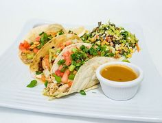 Fish tacos at the Sunshine Grill will increase your happiness. Grand Cayman Island, Cayman Islands, Fish Tacos, Fresh Rolls, Grilling, Sunshine, Happiness, Ethnic Recipes, Food