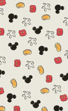 Mickey Mouse print.