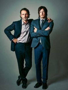 andrew lincoln & norman reedus.  Exactly who I want next to me when the Walkers come.