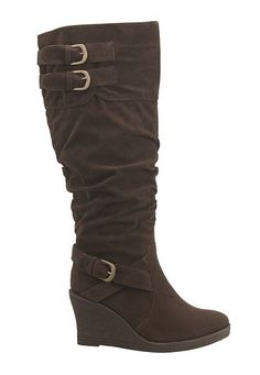 brown wedge boots :)