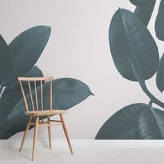 This rubber plant wallpaper looks great paired when with bright furniture, allowing you to create a fun tropical theme. Buy now with fast & FREE UK delivery! Palm Leaf Wallpaper, Tropical Wallpaper, Green Wallpaper, Wallpaper Murals, Rainforest Theme, Congo Rainforest, Rainforest Cafe, Massage Room Design, Rubber Plant
