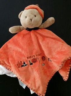 Carter's Baby's First Halloween Bear Security Blanket Lovey Orange #Carters