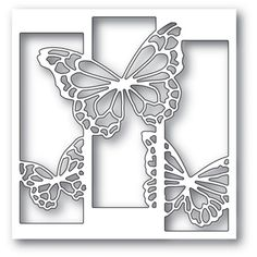 Memory Box Die -Butterfly Spectacle Craft now available at The Rubber Buggy Stencils, Stencil Diy, Butterfly Frame, Butterfly Crafts, Kirigami, Diy And Crafts, Arts And Crafts, Paper Crafts, Cnc Cutting Design