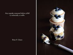 Blueberry Cream Cheese Cupcakes by pastryaffair, via Flickr