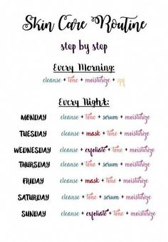 Skin care routine for all the week - - Skin care routine for all the week Looks I Love Hautpflege für die ganze Woche Skin Care Routine Steps, Skin Routine, Skincare Routine, Skin Care Routine Daily, Face Care Routine, Night Routine, Natural Beauty Tips, Natural Skin Care, Natural Hair