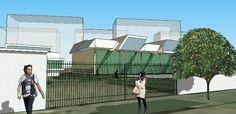 Projeto volumétrico de subestação de energia, Jacarepaguá, RJ. Autor: arquitetodafelicidade.com.br