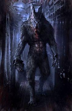 Devil, vampire and werewolf Fantasy Creatures, Mythical Creatures, Fantasy Kunst, Fantasy Art, Werewolf Art, Vampires And Werewolves, Creatures Of The Night, Dark Fantasy, Dark Art