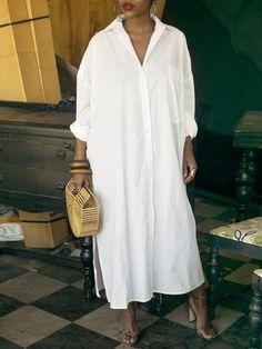 Classy Fashion Tips Long Sleeve Side Split Button Shirt Dress.Classy Fashion Tips Long Sleeve Side Split Button Shirt Dress Mode Outfits, Fashion Outfits, Womens Fashion, Jeans Fashion, Ladies Fashion, Modest Fashion, Hijab Fashion, Fashion Tips, Look Fashion
