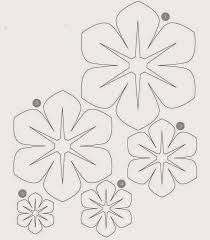 Flower Template to make hula leis Giant Paper Flowers, Diy Flowers, Fabric Flowers, Flower Petal Template, Leaf Template, Templates, Felt Crafts, Paper Crafts, Diy Paper