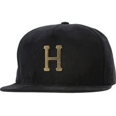 HUF Metal H Snapback Cap in black $35.99