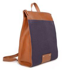 MANUEL - sac à dos pour homme - bi-matière - cuir et toile