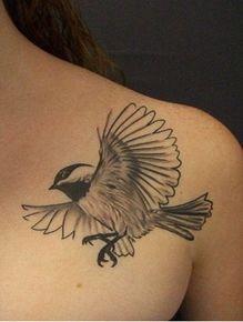 chickadee tattoo.