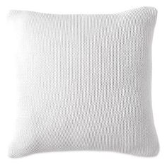 Dkny Knit Accent Pillow ($50) ❤ liked on Polyvore featuring home, home decor, throw pillows, white, textured throw pillows, knit throw pillow, white home decor, white throw pillows and white accent pillows