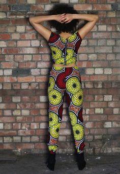 Crop Top  Trouser Combo  African Print  von FeatherTreeGirls, £55.00