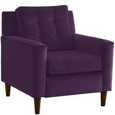 $389 Skyline Furniture Custom Accent Chair in Velvet