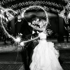 Before leaving the ceremony, guests surrounded the couple for a grand sparkler exit. Wedding Photography Checklist, Wedding Photography Poses, Wedding Poses, Wedding Engagement, Wedding Ideas, Wedding Pictures, Engagement Photos, Photography Ideas, Wedding Stuff