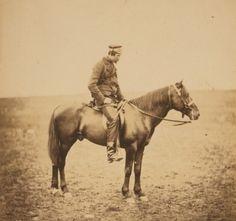 Photographs of men on horseback during the Crimean War, 1855, by Roger Fenton
