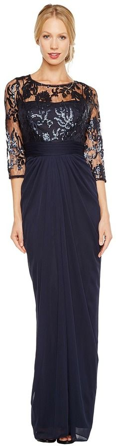 Adrianna Papell Drape Covered Gown Women\'s Dress | Dresses ...