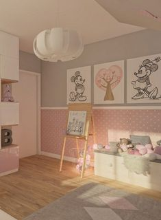 Decoration tip Nursery walls with butterflies shape themselves - Kinderschlafzimmer - Kinderzimmer Kids Room Design, Nursery Design, Wall Design, Room Kids, Shape Design, Girl Bedroom Designs, Girls Bedroom, Design Bedroom, Disney Rooms