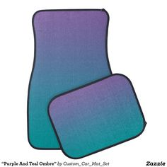 """Purple And Teal Ombre"" Car Mat, Artwork designed by Custom Car Mat Set"