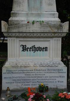 Beethoven's grave - Zentralfriedhof, Vienna.