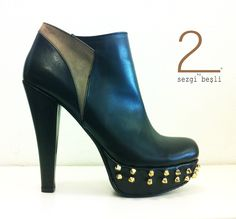 designed by Sezgi Beşli  %100 leather high heels shoes