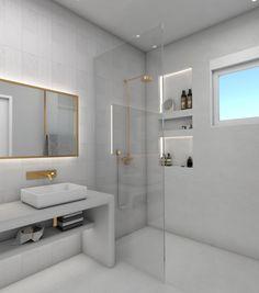 Bathroom renovation Modern and elegant bathroom design with golden details. Apartment Renovation, Apartment Design, Unique Furniture, Furniture Design, Best Bath, Construction Design, Architecture Plan, Bath Design, Greece Design