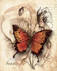 Ideas for tattoo butterfly vintage decoupage Vintage Labels, Vintage Cards, Vintage Paper, Decoupage Vintage, Decoupage Paper, Decoupage Ideas, Images Vintage, Vintage Pictures, Vintage Butterfly