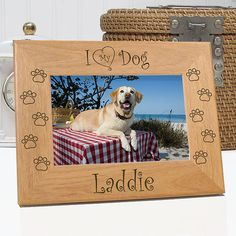 4x4 Laser Engraved Wood Photo Gift Custom Pet Portrait with Mini Easel Dog Cat Horse Pet Lover Gift