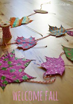 Riciclattoli (e dintorni...): Benvenuto Autunno: coloriamo le foglie!