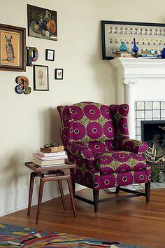 Josef Wingback Chair, Violet Orbs - Anthropologie.com