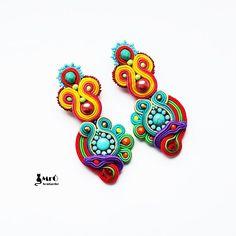 Rainbow soutache. Colorful earrings soutache  por MrOsOutache