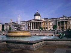 The National Art Gallery, on Trafalgar Square in London, England