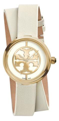 pretty double strap leather wrap watch