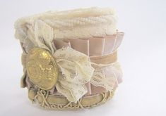Victorian Lace and Ruffles Cuff Bracelet Tutorial {NO sew} - Crafts, DIY, Tutorials - Little Miss Momma