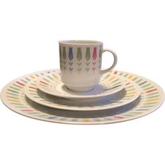 Sears Harmony House Coquette Pattern 16 pc Dinner Place Setting. Red tag sale. 50% off until 8/2/2015