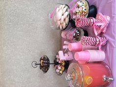 Pink baby shower dessert table #whitneywhetman