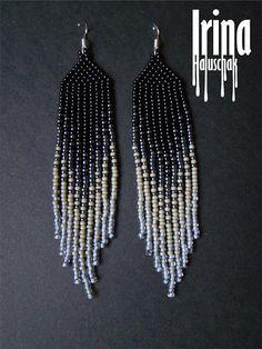 Kleurovergang beaded earrings zaad parel oorbellen