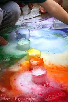 Fizzing ice rainbows - how to make colorful frozen eruptions