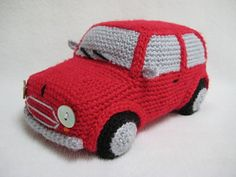 Classic Mini Inspired Car Toy crochet pattern by Millionbells