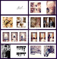 Wedding album layout by on DeviantArt Wedding Photo Album Book, Wedding Album Layout, Wedding Album Design, Album Photo, Wedding Albums, Coffee Table Book Layout, Wedding Booklet, Photo Arrangement, Wedding Scrapbook