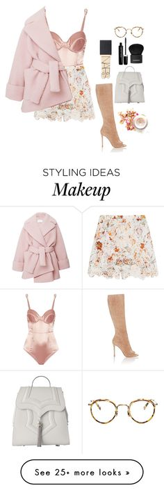 """""""Lovers dream"""" by black-forest on Polyvore featuring Fleur du Mal, Zimmermann, Gianvito Rossi, Okhtein, Marc Jacobs, Givenchy, Eyevan 7285, Carven and NARS Cosmetics"""
