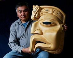 """Eagle Mask"" - We wish to honor our friend, Dempsey Bob, a Master Carver, teacher, and community leader.  Dempsey Bob Tahltan, Tlingit (born 1948- ) A celebrated artist and a dedicated teacher, Dempsey began carving in 1969 and was directed to the Gitanmaax School of Northwest Coast Indian Art in 1972 by Freda Diesing, who was his earliest mentor and teacher."