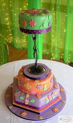 Sanah Mehndi Cake 2 by lacremepatisserie, via Flickr