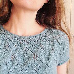 Ravelry: Lind pattern by Lene Tøsti Fair Isle Knitting Patterns, Sweater Knitting Patterns, Lace Knitting, Knitting Stitches, Knit Patterns, Knit Crochet, Crochet Summer Tops, Summer Knitting, Pulls