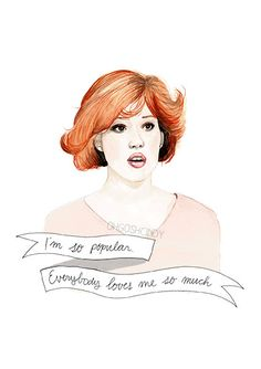 I'm obsessed with all these prints and am going to buy a bunch and make a gallery wall in my office!! Molly Ringwald in the Breakfast Club Claire by ohgoshCindy on Etsy, £9.00